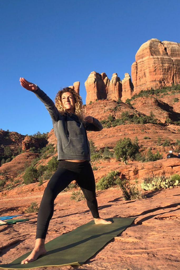 Dr. Maryam Poursartip MD - Dr. P. - yoga outdoors